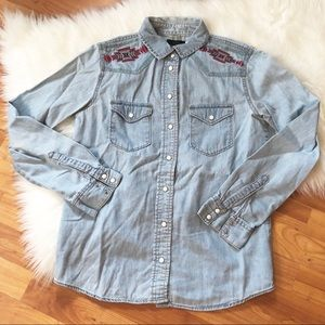 BDG Denim Embroidered shirt